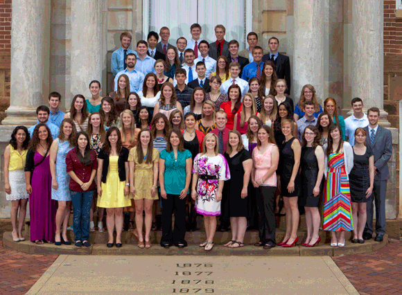 2012 Alpha of Arkansas Phi Beta Kappa Initiates